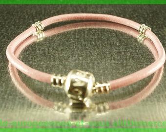 love for leather N72 European Bead Bracelet 18cm charms