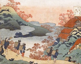 ORIGINAL SEMI RIGID PLACEMAT. Hokusai. Landscape.