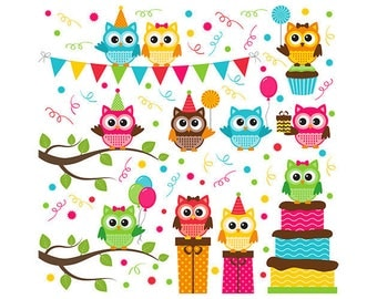 ORIGINAL design, durable and WASHABLE PLACEMAT - birds - birthday, little owls.