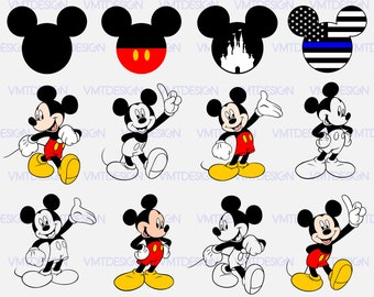 Mickey Hand Png Etsy