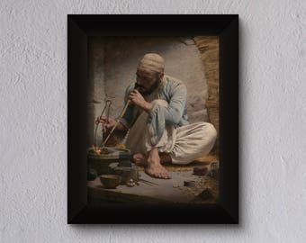 The Arab Jeweler  - High Quality print made with Gloss Photo Paper - Original of Charles Sprague Pearce - Oil on Canvas - 1882
