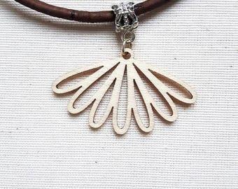 Necklace made of Cork, wood pendant range