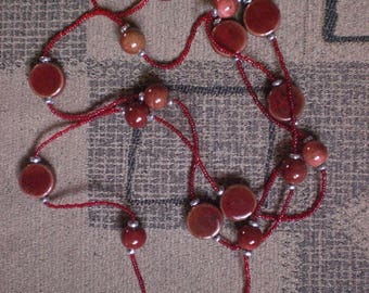 Brick red necklace