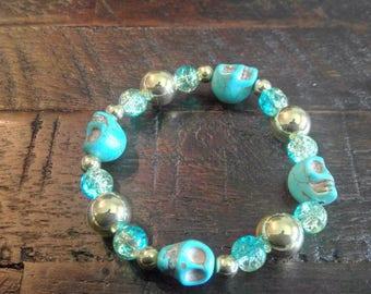 Skull Bracelet | Bead Bracelet | Jewelry | Stacking Bracelet | Friendship Bracelets | Gifts | Special Occasion | Mala Bracelet | Boho