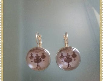 """Silver earrings """"haute couture"""""""