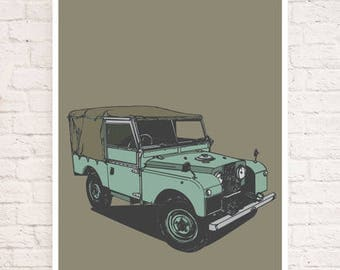Land Rover Limited Edition Series I Art Print/Poster - Hand Drawn Design