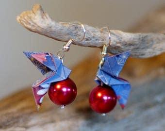 "Earring origami ""Dove"""