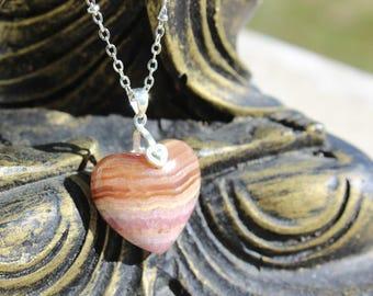 energizing and stress - rhodochrosite - rhodochrosite necklace
