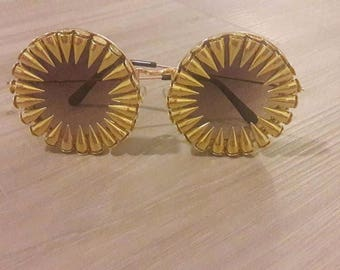 Steampunk Glasses, Custom Sunglasses, Rhinestone AVIATOR reflective sunglasses, Circle Sunglasses, Bling Sunglasses, Skull Mask, Christmas