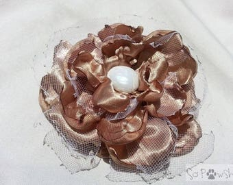 Copper and Tulle Flower