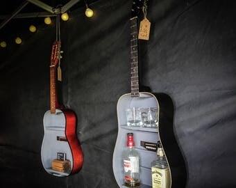 Guitar Bar - Bespoke Handmade - Drinks Shelf **BLACK & GREY**