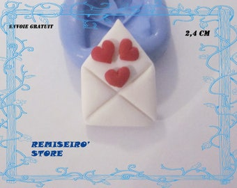 Mold envelope heart 2.4 cm silicone hand