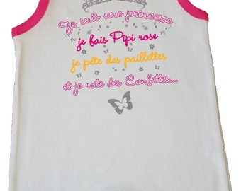 "dress jumpsuit baby humorous message ""I'm a Princess..."