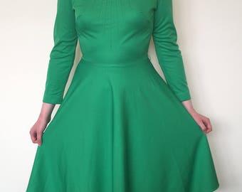 Vintage 70's Green Dress