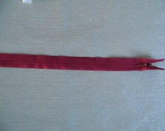 Invisible zipper 25 cm Burgundy SKU 9059
