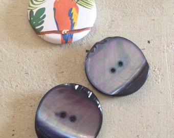 Blue Pearlescent buttons