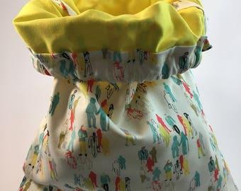 Handmade multipurpose drawstring bag