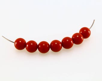20 synthetic Turquoise beads 6mm LBP00082 Red