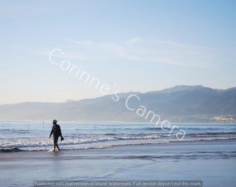 Walk on the Beach Blank Greeting Card