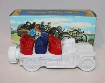 Vintage Avon 1908 Thomas Flyer Car Bottle Full Wild Country After Shave