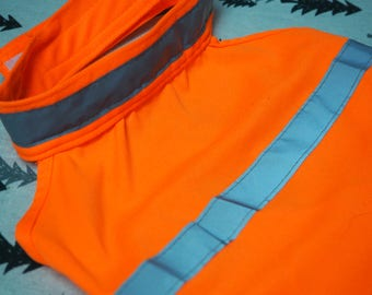 High Visibility Reflective Orange Dog Vest -Medium