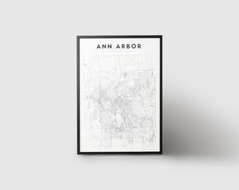 Ann Arbor Map Print