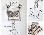 Mini Box fil de fer N37 thème papillon