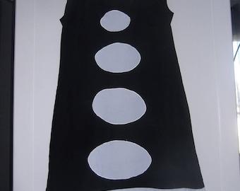 DRESS PIERROT WOMAN BLACK AND WHITE 36/38
