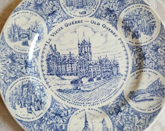 Vieux Quebec collector's plate, Canadiana, Canadian memorabilia, Quebec memorabilia, Vieux Quebec, Quebec plate, collector plates