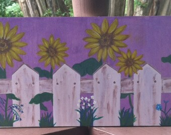 Sunflowers and a Picket Fence