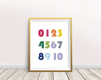 Counting Print,Numbers Poster,Nursery Decor, Counting Poster,Typography Art,Nursery Print,Instant download,toddler,kids room,Kids Wall Art