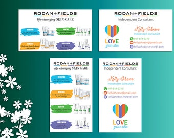 Rodan and Fields Business Cards, Fast Personalized, Rodan + Fields Independent Consultant, Modern Business Cards RF04