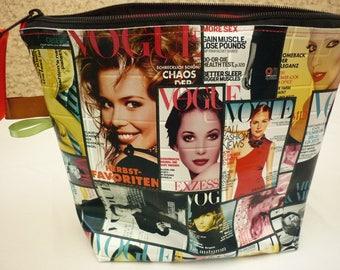 trousse à maquillage mode en tissu enduit Vogue