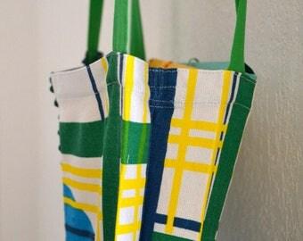 Rosalie racing canvas bag vintage - geometric pattern fabric