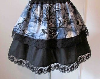 Crows in trees Gothic skirt