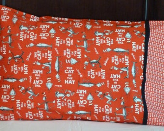Handmade Pillowcase - The Cat in the Hat