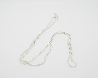 ball silver chain 45cm 1 mm (l636)
