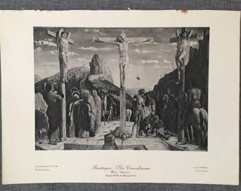 Mantegna. The Crucifixion 1920's antique print