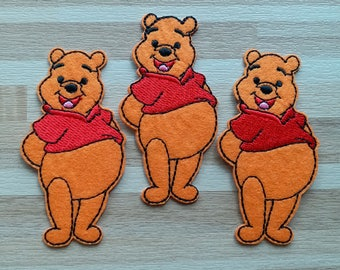 12pcs winne the pooh bear Iron on Sew on Applique embroidered patch