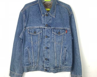 Rare!!! Vintage!!! Edwin US Classic Jacket Jeans Full Buttons 4 Pockets