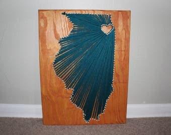 Chicago, Illinois Yarn Board String Art