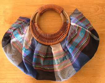 Vintage handmade bag with K'Ho ethnic patterns from Vietnam