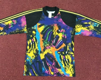 Vintage 90's adidas NEON colourfull for streetwear hip hop and 90's kids