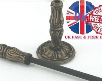 Hand Forged Wrought Iron Fire Poker with Stand - Open Fire Contemporary Style