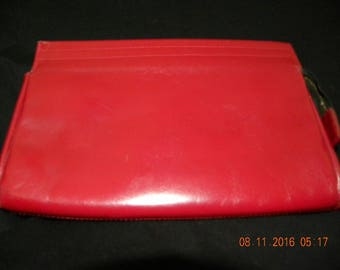 Vintage Rolf's Clutch/purse Red Leather