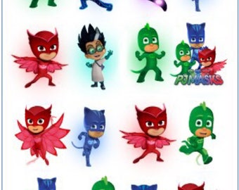 PJ Masks Temporary Tattoo Sticker. Party Supplies Bunting Lolly Loot Bags
