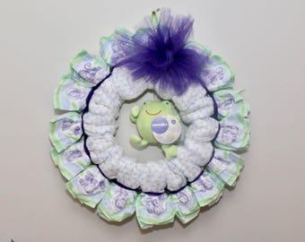 Baby Shower Gift Diaper Wreath