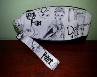 Harry Potter Wristlet - Clutch Purse - Clutch Bag - Makeup Bag - Geeky - Dumbledore's Army - HP - Clematis Wristlet