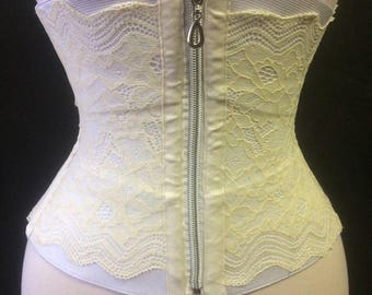 Elastic corset white