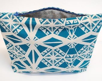 SALE - screen printed bag in turquoise